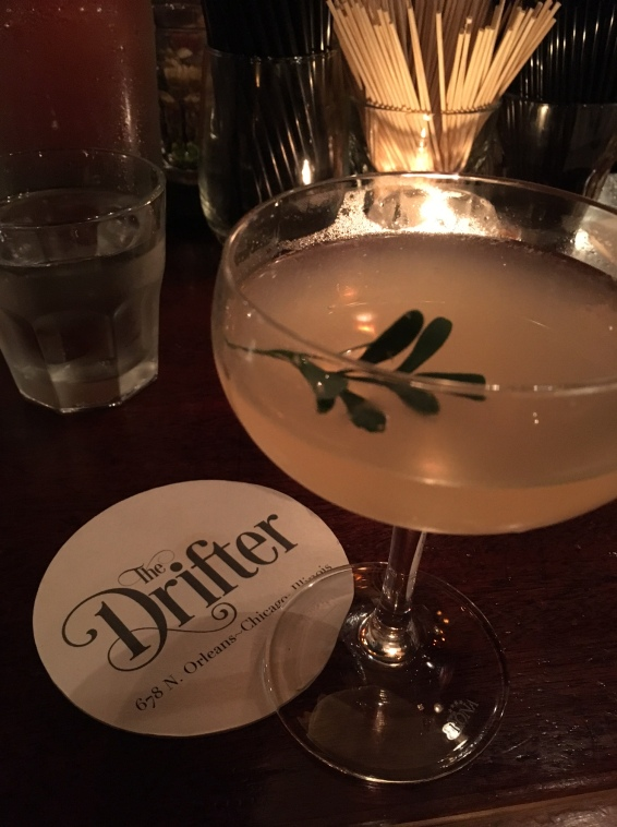 Martini at the Drifter, a speakeasy in downtown Chicago
